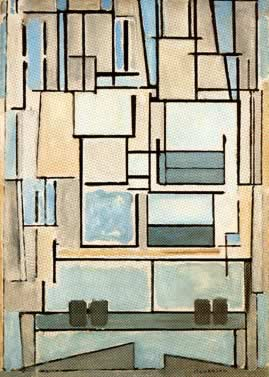 Composition No.9 Blue Facade (1914)