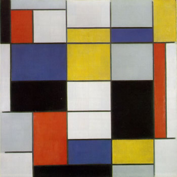 Composition A with Black, Red, Grey, Yellow and Blue (1920)