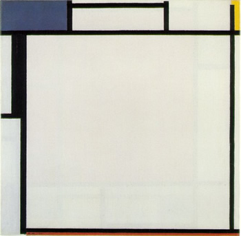Composition with Blue, Yellow, Black and Red (1922)