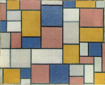 Composition with Colour Planes and Grey Lines (1918)