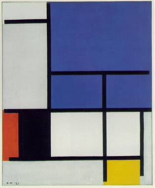 Composition with Large Blue Plane (1921)