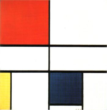 Composition with Red and Blue (1935)