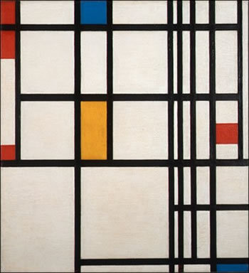 Composition with Blue, Red and Yellow (1942)