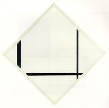 """""""Fox Trot"""" Lozenge Composition with Three Black Lines (1929)"""