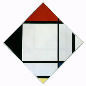 Lozenge Composition with Red, Black, Blue and Yellow (1925)