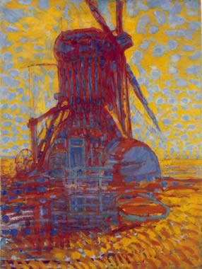 Molen (Mill) - Mill in Sunlight (1908)